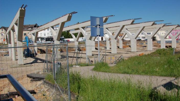 Bauarbeiten am Bergheimer Bahnhof